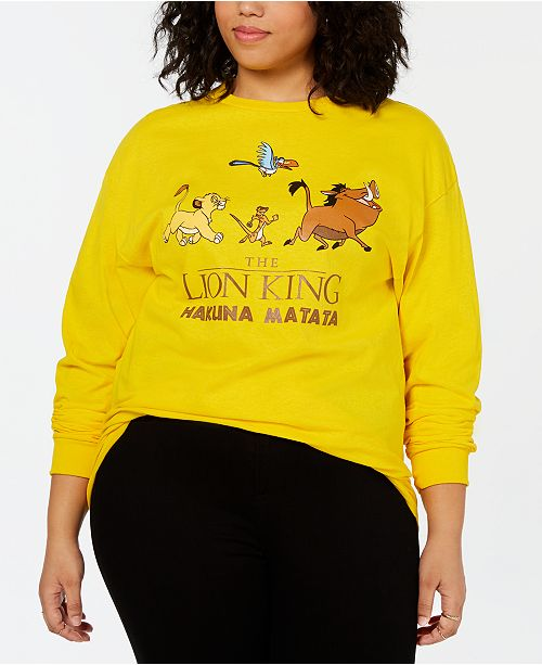 Mighty Fine Plus Size Hakuna Matata Long-Sleeve Top