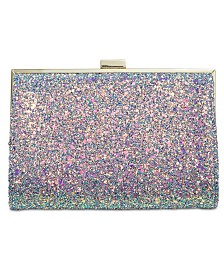 I.N.C. Loryy Glitter Clutch, Created for Macy's