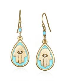 Capwell & Co. Aqua Hamsa Earring