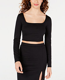 Material Girl Juniors' Square-Neck Crop Top, Created for Macy's