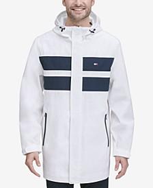 Men's Bonded 3/4th-Length Hooded Rain Jacket, Created for Macy's
