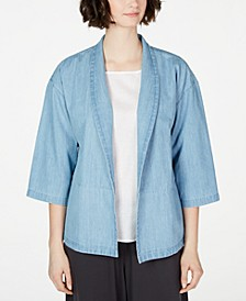Organic Cotton Open-Front Jacket, Created for Macy's