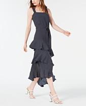b73da1cb09 Bar III Ruffled Asymmetrical Midi Dress