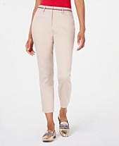 c091252db Tommy Hilfiger Ribbon-Trim Ankle Pants, Created for Macy's