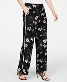 I.N.C. Printed Pull-On Knit Pants, Created for Macy's