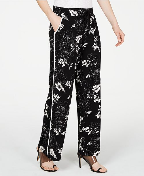 INC International Concepts I.N.C. Petite Floral-Print Pants, Created for Macy's