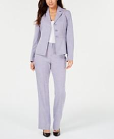 Le Suit Petite Striped Pantsuit