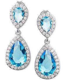 Giani Bernini Cubic Zirconia Teardrop Drop Earrings in Sterling Silver, Created for Macy's
