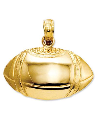 14k Gold Charm, Football Charm