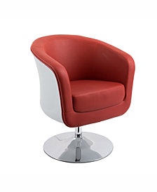 Corliving Modern Bonded Leather Swivel Tub Chair