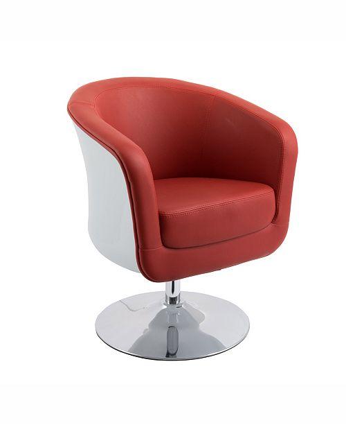 Astonishing Corliving Modern Bonded Leather Swivel Tub Chair Camellatalisay Diy Chair Ideas Camellatalisaycom