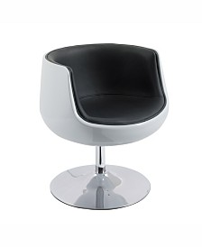 Corliving Modern Bonded Leather Swivel Barrel Chair