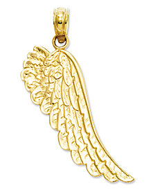 14k Gold Charm, Angel Wing Charm