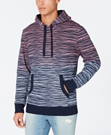 American Rag Men's Dip Dyed Striped Hoodie, Created for Macy's