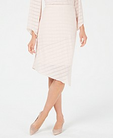 Petite Novelty Pointed-Hem Midi Skirt, Created for Macy's