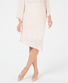 Alfani Pointed-Hem Midi Skirt, Created for Macy's
