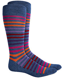 AlfaTech by Alfani Men's Striped Dress Socks, Created for Macy's