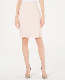 Calvin Klein Pleated Twill Pencil Skirt