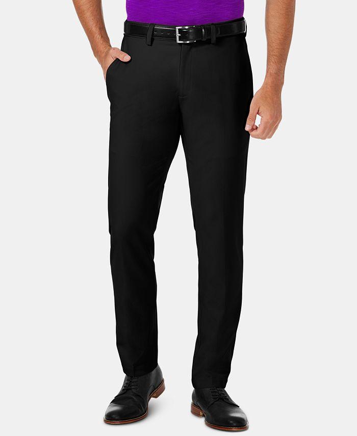 Haggar - Men's Cool 18 Pro Slim-Fit 4-Way Stretch Moisture-Wicking Non-Iron Dress Pants
