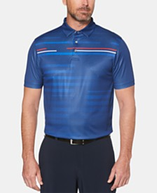 PGA TOUR Men's Motionflux™ Performance Stretch Moisture-Wicking Broken Shadow-Stripe Polo