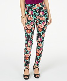 Thalia Sodi Floral Pull-On Leggings, Created for Macy's