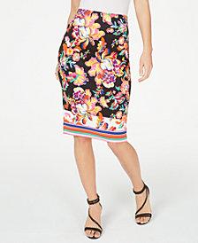 Thalia Sodi Printed Pencil Skirt, Created for Macy's