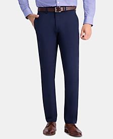 Men's Premium Comfort Khaki Slim-Fit 2-Way Stretch Wrinkle-Resistant Flat-Front Casual Pants