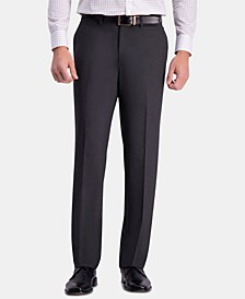 JM Men's Straight-Fit 4-Way Stretch Flat-Front Dress Pants