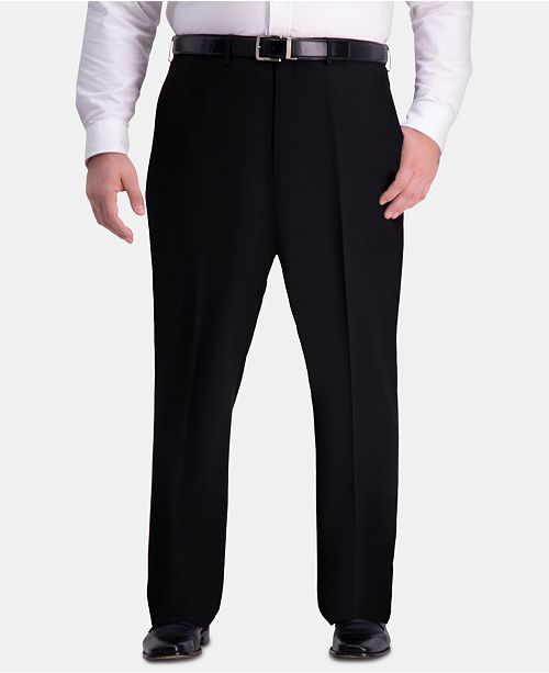 Haggar J.M. Men's Big & Tall Classic-Fit Stretch Flat-Front Dress Pants