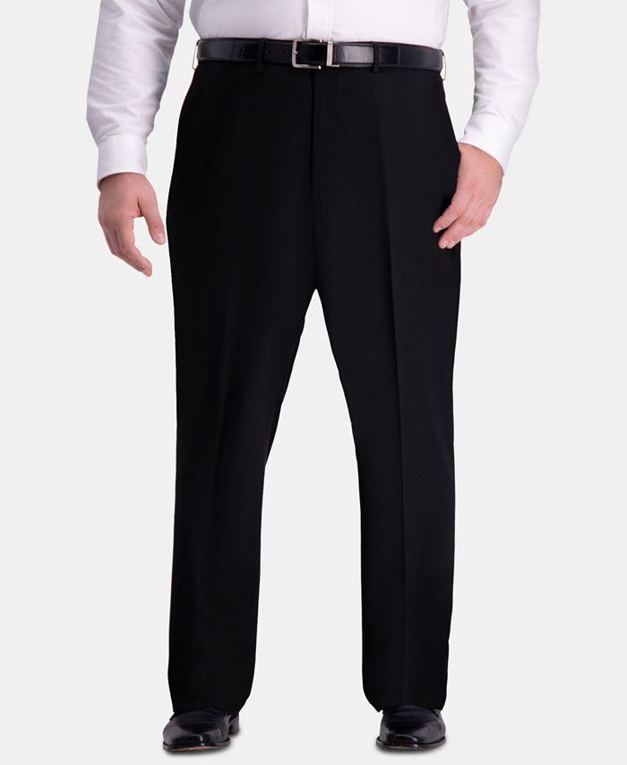 Haggar - Men's Big & Tall Classic-Fit 4-Way Stretch Flat-Front Dress Pants