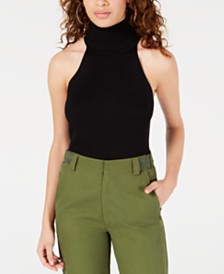 XOXO Juniors' Ribbed Turtleneck Top