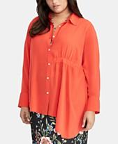 5e6f312092d RACHEL Rachel Roy Trendy Plus Size Asymmetrical-Hem Shirt