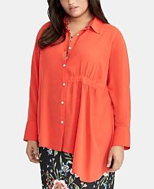 RACHEL Rachel Roy Trendy Plus Size Asymmetrical-Hem Shirt