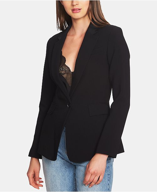 1.STATE Classic Crepe One-Button Jacket