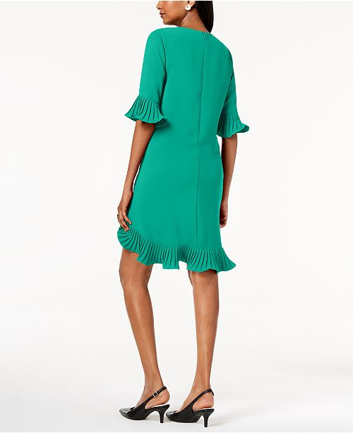 a992334f2e30f Alfani Pleated Flounce Dress, Created for Macy's & Reviews - Dresses ...