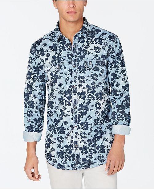 INC International Concepts I.N.C. Men's Floral Graphic Shirt, Created for Macy's