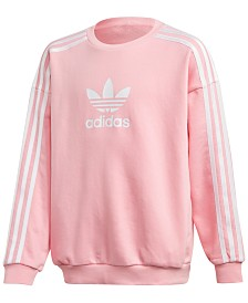 adidas Originals Big Girls Trefoil Graphic Sweatshirt