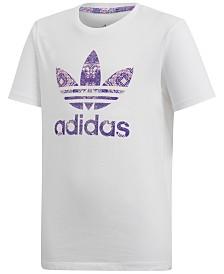 adidas Originals Big Girls Trefoil Graphic T-Shirt