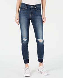 Levi's® 311 Ripped Skinny Ankle Jeans