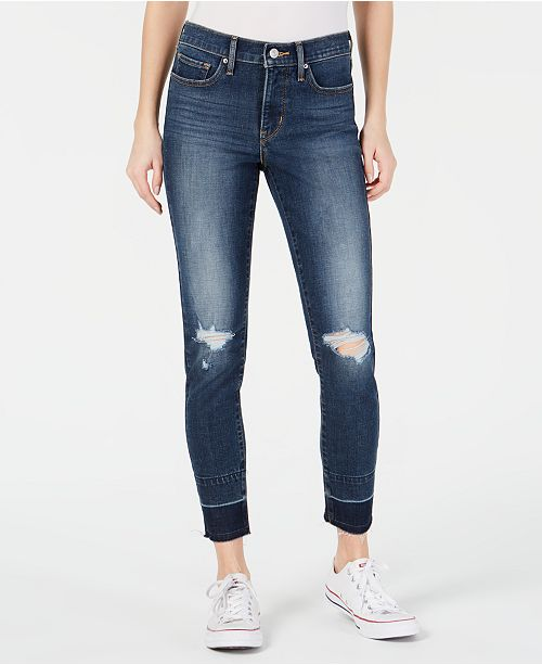 Levi's 311 Ripped Skinny Ankle Jeans