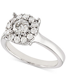 Certified Diamond (1 ct. t.w.) Halo Ring in 14k White Gold