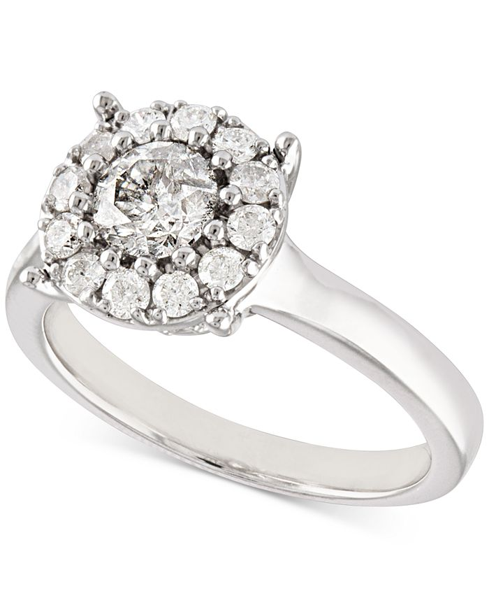 Macy's - Certified Diamond (1 ct. t.w.) Halo Ring in 14k White Gold