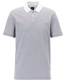 BOSS Men's Regular/Classic Fit Half-Zip Cotton Polo