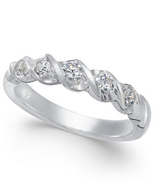 Diamond Twist Ring (1/2 ct. t.w.) in 14k White Gold