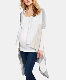 A Pea In The Pod Maternity Colorblocked Open-Front Cardigan