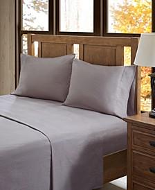 True North Cotton Flannel 4-Piece King Sheet Set