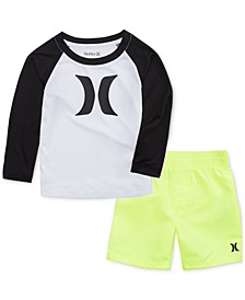 Baby Boys 2-Pc. Dri-FIT Swim Set