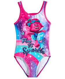 Dreamwave Little Girl Trolls Graphic Swimsuit
