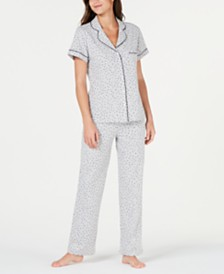 Sesoire Printed Knit Cotton Pajama Set