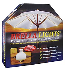 BRELLA LIGHTS - Patio Umbrella Lighting System With Power Pod, 6-Rib Model